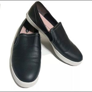 Dr Scholls Luna Black White Slip On Loafers Sz 8
